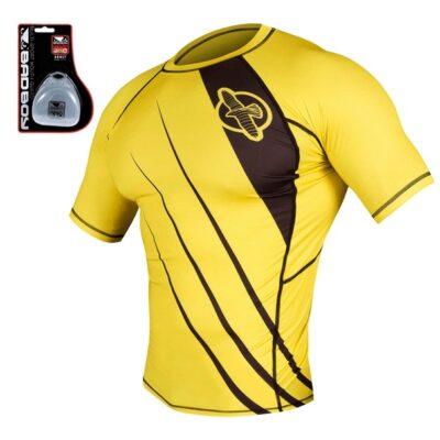 Рашгард Hayabusa Recast Yellow/Black — капа в подарок